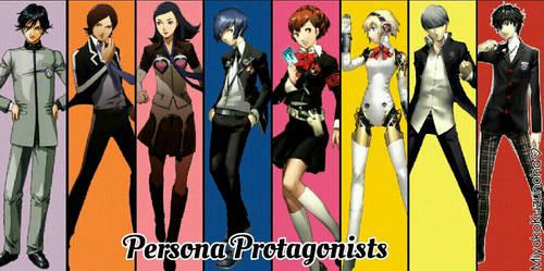 Protagonists of Persona by MiyakoKuzunoha