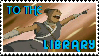To The Library Stamp by wizardwonders6