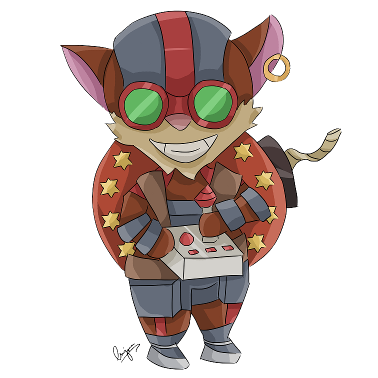 Advent day 19 - LoL - Ziggs by amber-enigma