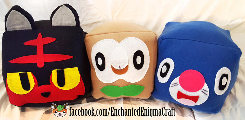 Sun and Moon Stater Plush Cubes by enchanted-enigma