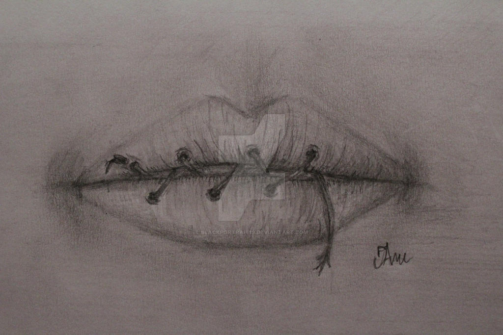 Sewn Shut by BlackPortrait19 on DeviantArt