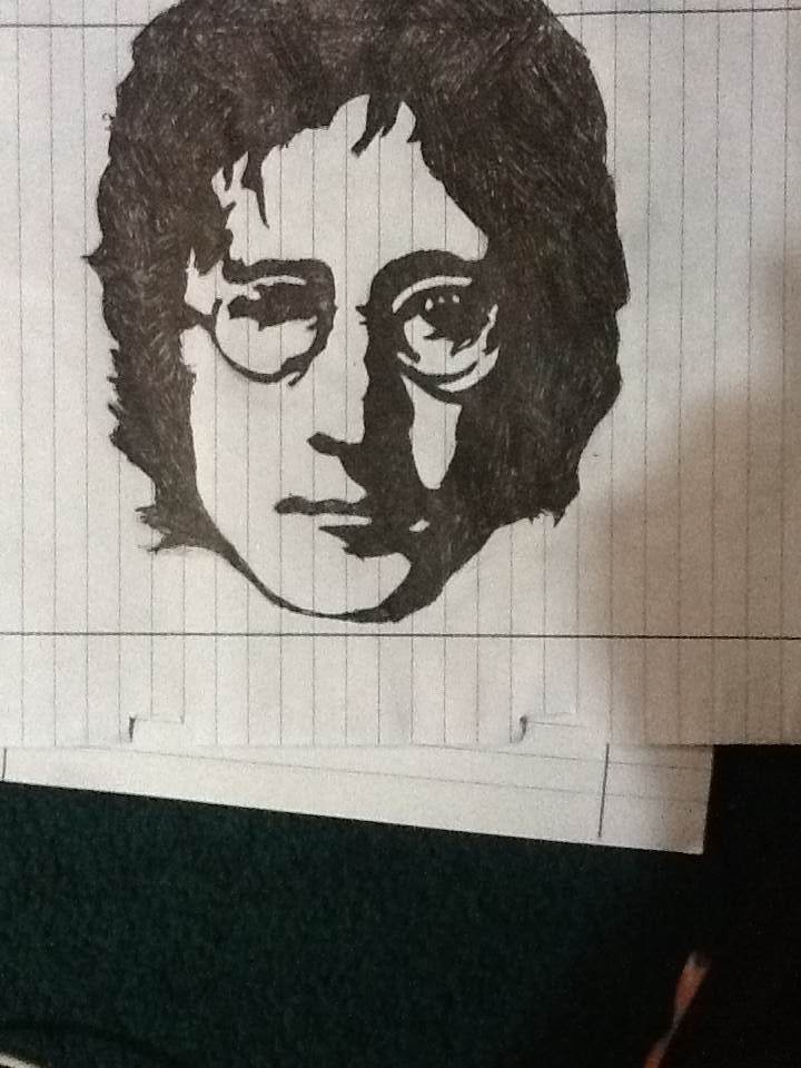 The Silhouette Of John Lennon By Dea Dash On Deviantart
