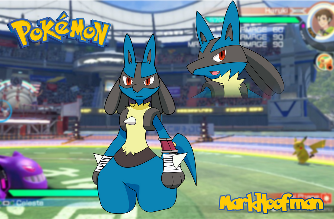 Lucario Crossover Design by MarkHoofman