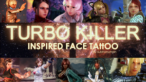 Turbo Killer Face Tattoo