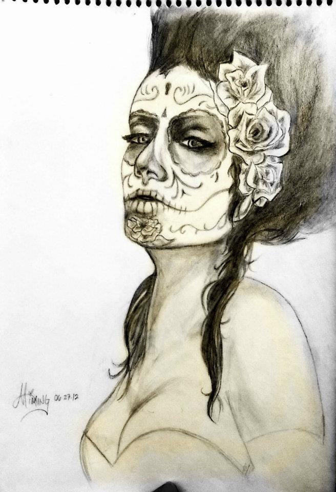 Beautiful Sugar Skulls Drawings Sugar skull by mimiyaw