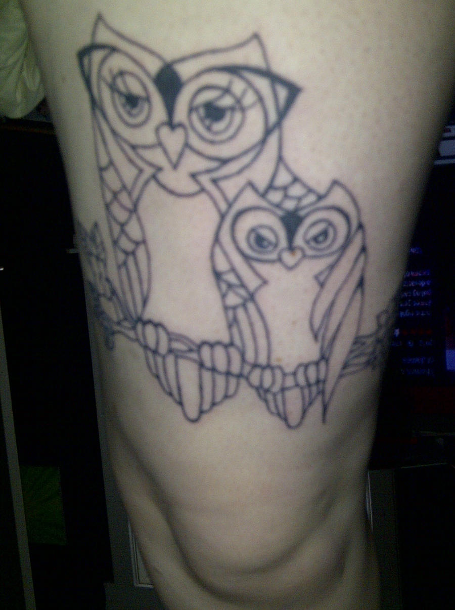 mother and child owl tattoo by harley quinnxo on deviantart. Black Bedroom Furniture Sets. Home Design Ideas