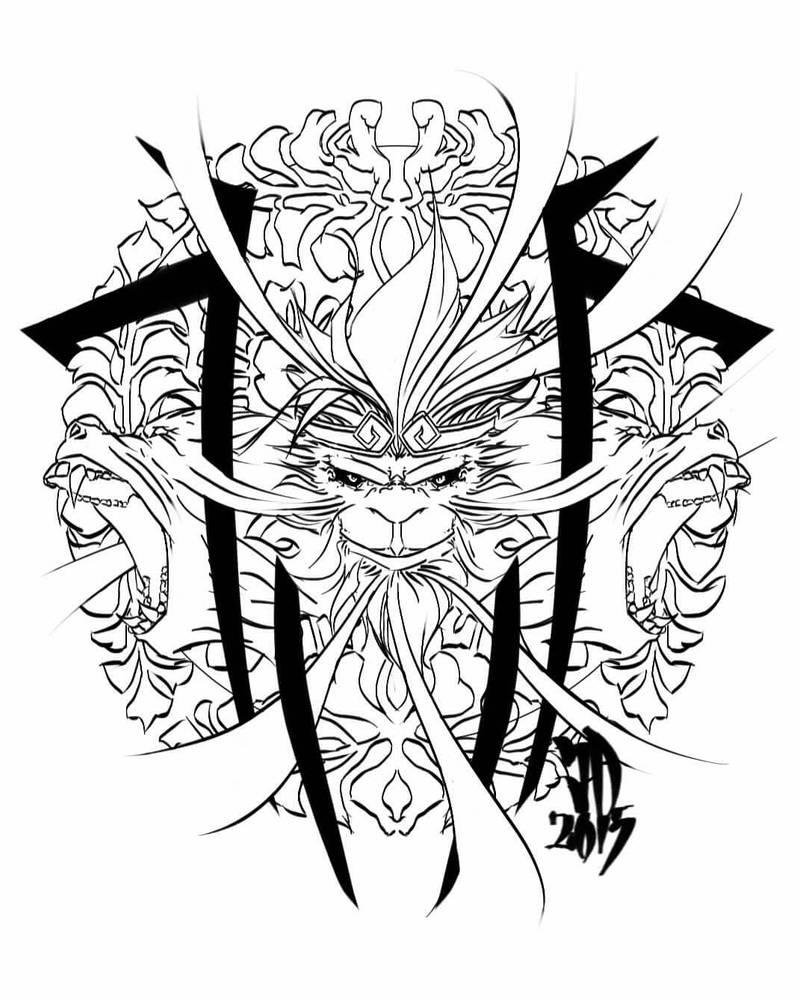 4f43664bb535e tribal monkeys tattoo design by JerryDD214 on DeviantArt