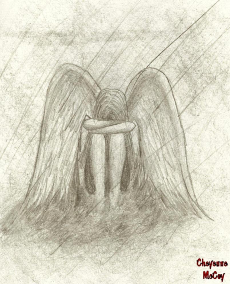crying angel by notalonewishingiwas on deviantart