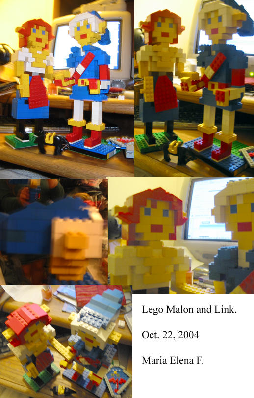 Lego Malon and Link by HorseElena