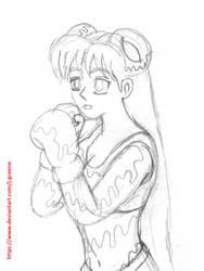 Ayako Boxing sketch by J-Greene