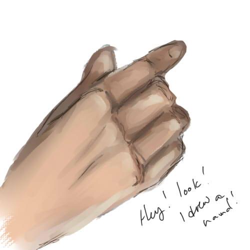 OMG LOOK A HAND by Chompie