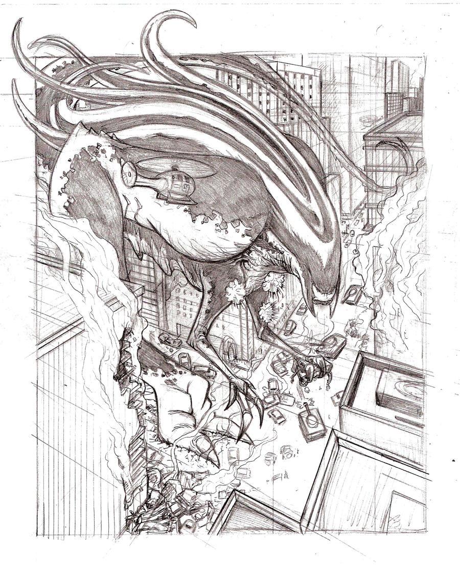 Monster Roaming by BrattyBen