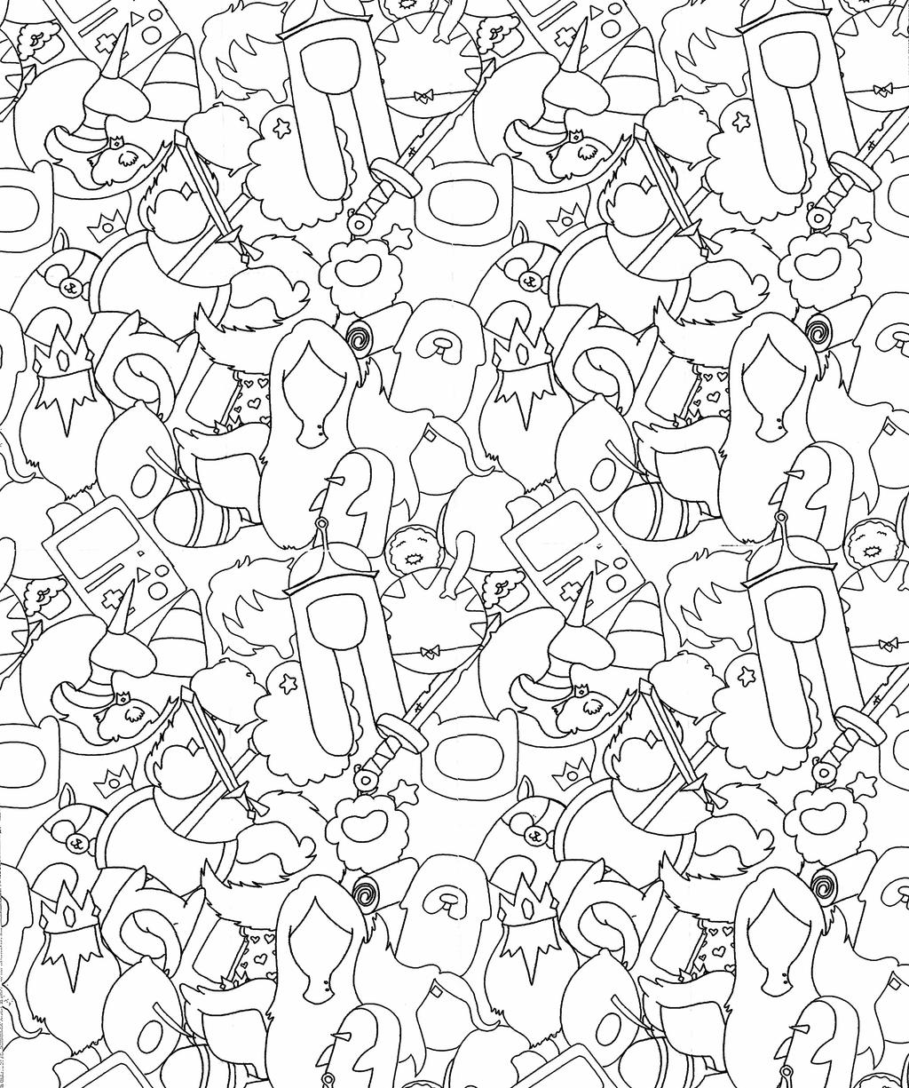 adventure Time coloring book page by Natalie-Parker on DeviantArt