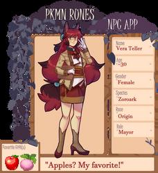 PKMN-Runes NPC: Mayor Vera by Kagugle
