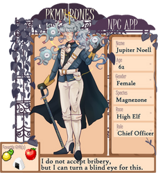 PKMN-Runes NPC: Officer Juno by Kagugle