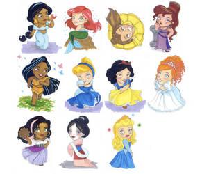Disney Princesses by bookfin416
