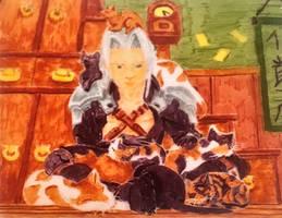 Cat in cathouse