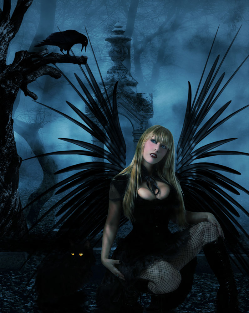 emo dark angel wallpapers