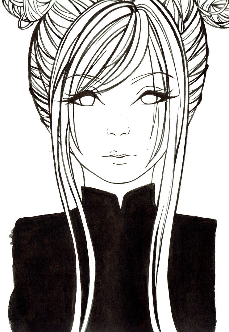 Japanese hair style different drawing style by kozikajax3