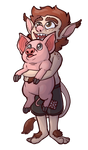 Commission: Troll and Pig