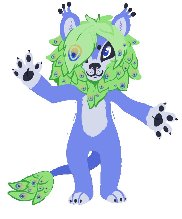 Peacock-Lion Hybrid Adoptable by Lucheek