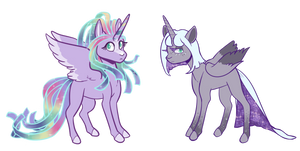 MLP NextGen Adoptable Set: Alicorn Anomaly by Lucheek
