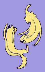Cat Fight by Lucheek