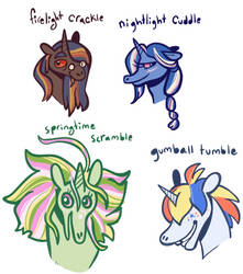 100pt Unicorn Doodles Adoptables