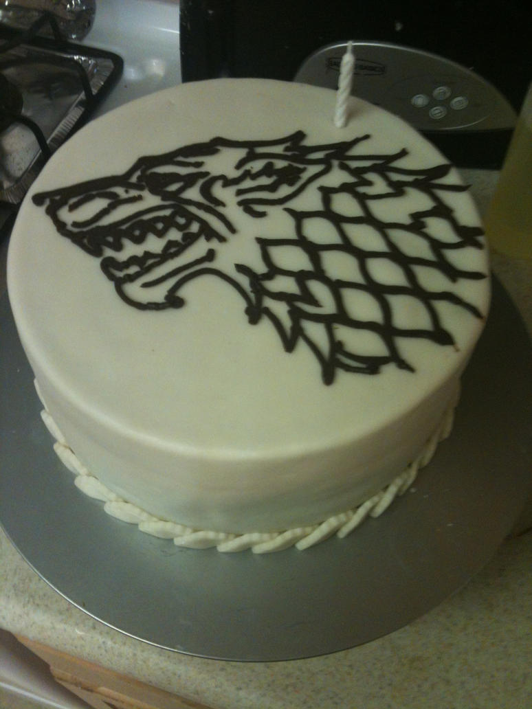 house stark birthday cake by qess on deviantart. Black Bedroom Furniture Sets. Home Design Ideas