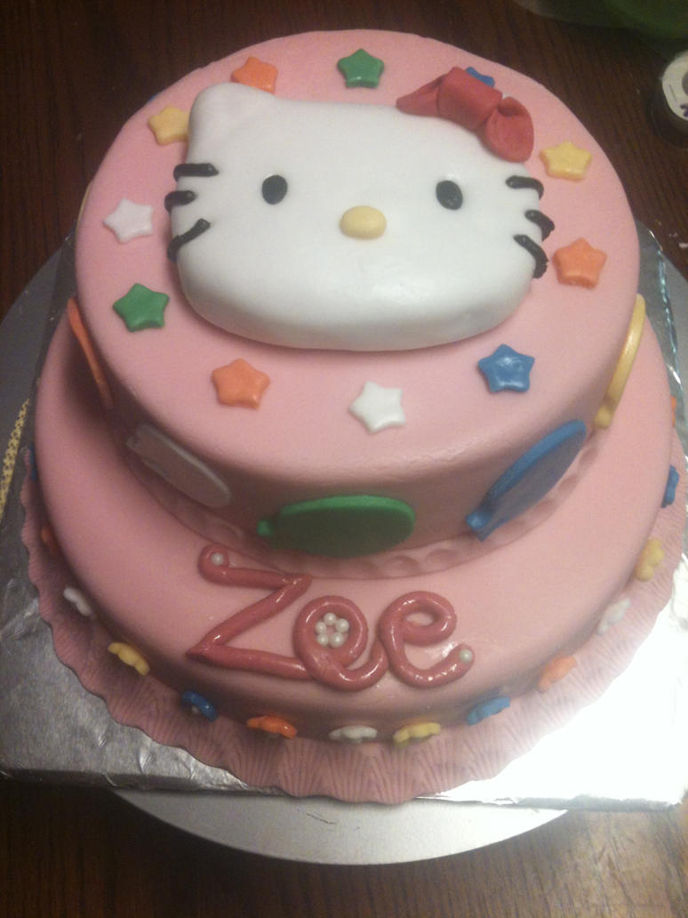 hello kitty baby shower cake by qess on deviantart