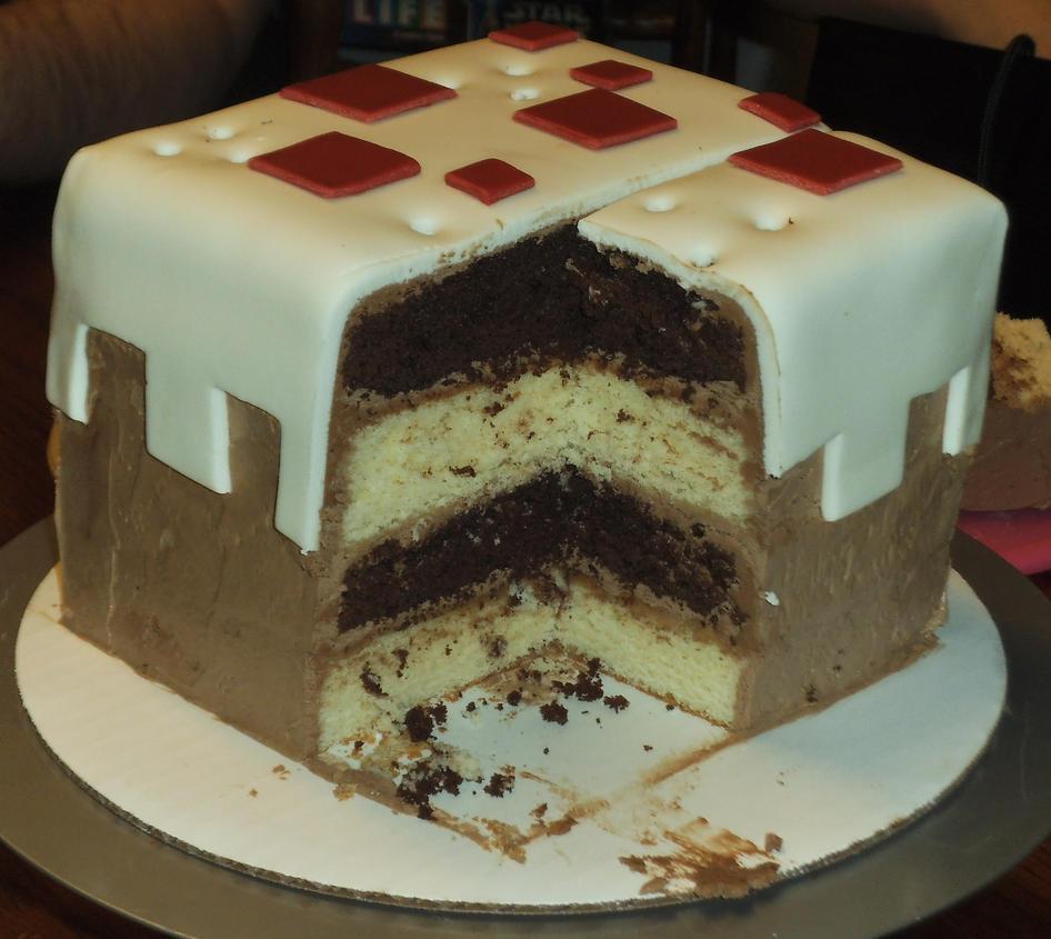 D Minecraft Cake