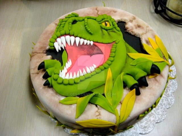 TRex cake 32915 by Qess on DeviantArt