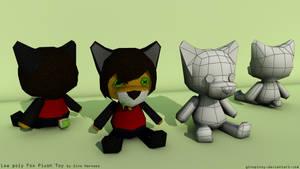 Low poly Fox Plush Toy by UrbanFoxGamer