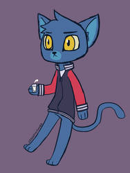 Lone DIgger cat chibi by UrbanFoxGamer