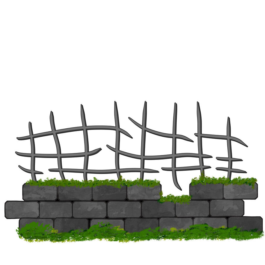 old brick wall stone fence by Dubov0