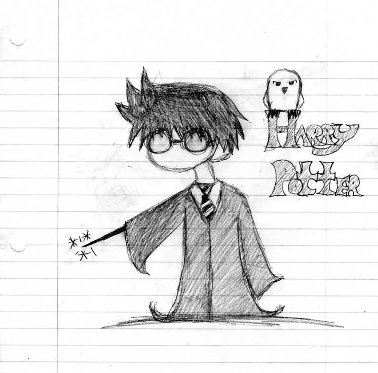 Harry potter bored drawing xd by krazypenguin on deviantart for Cartoons to draw when your bored