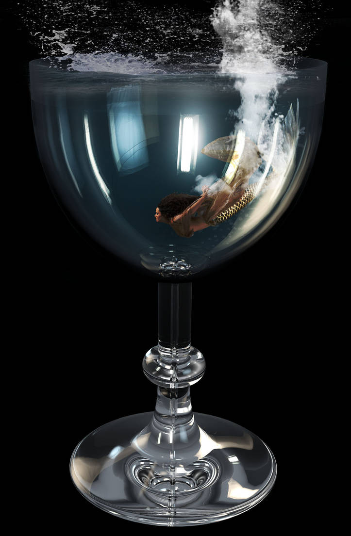 Mermaid In Glass by WeReallyDig