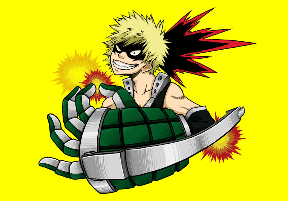 My Hero Academia :: Bakugou by Clampy-TFA