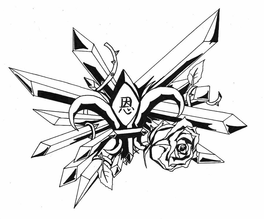 tattoo design v 2 by r0m1k4 on deviantart. Black Bedroom Furniture Sets. Home Design Ideas