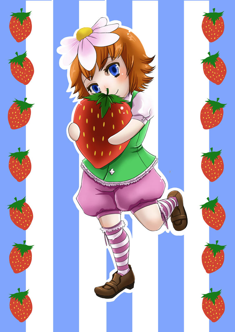 Strawberry Girl by r0m1k4