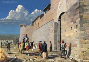 At the city gates - San Gimignano by Futurodox