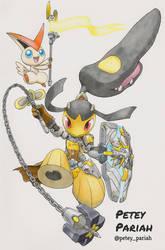 Pokemon X Overwatch: Mawile X Brigitte by PeteyPariah