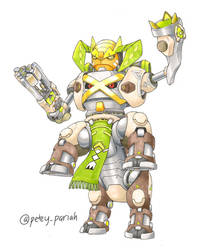 Pokemon X Overwatch: Terrakion+Metagross X Orisa by PeteyPariah
