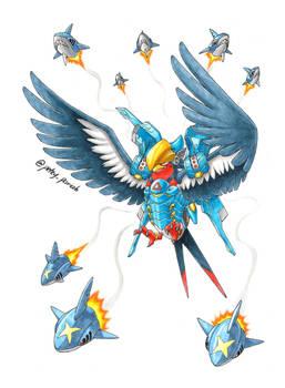 Pokemon X Overwatch: Swellow X Pharah