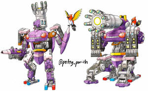 Pokemon X Overwatch: Genesect X Bastion by PeteyPariah