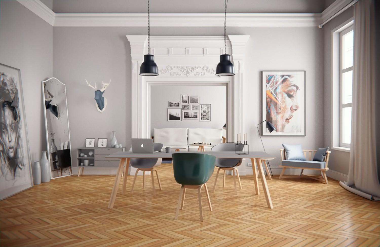 Neoclassical Interior by Schneckenhausmann