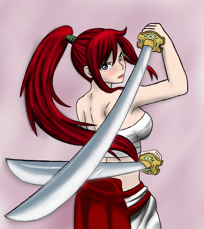 Erza Scarlet Wallpaper: Erza Scarlet By DeZireePuP On DeviantArt
