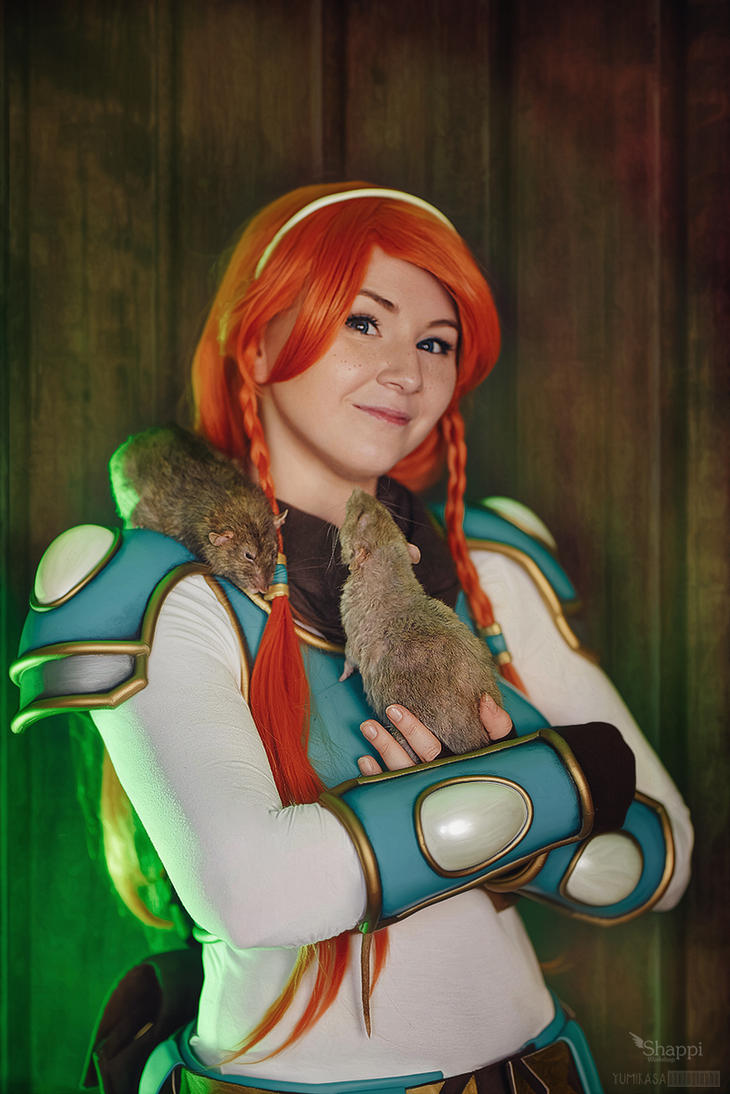 Violet with Rats - Rat Queens by Shappi
