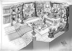 black magician's training room