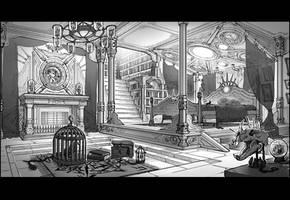 black magician's bedroom by Elle-Shengxuan-Shi